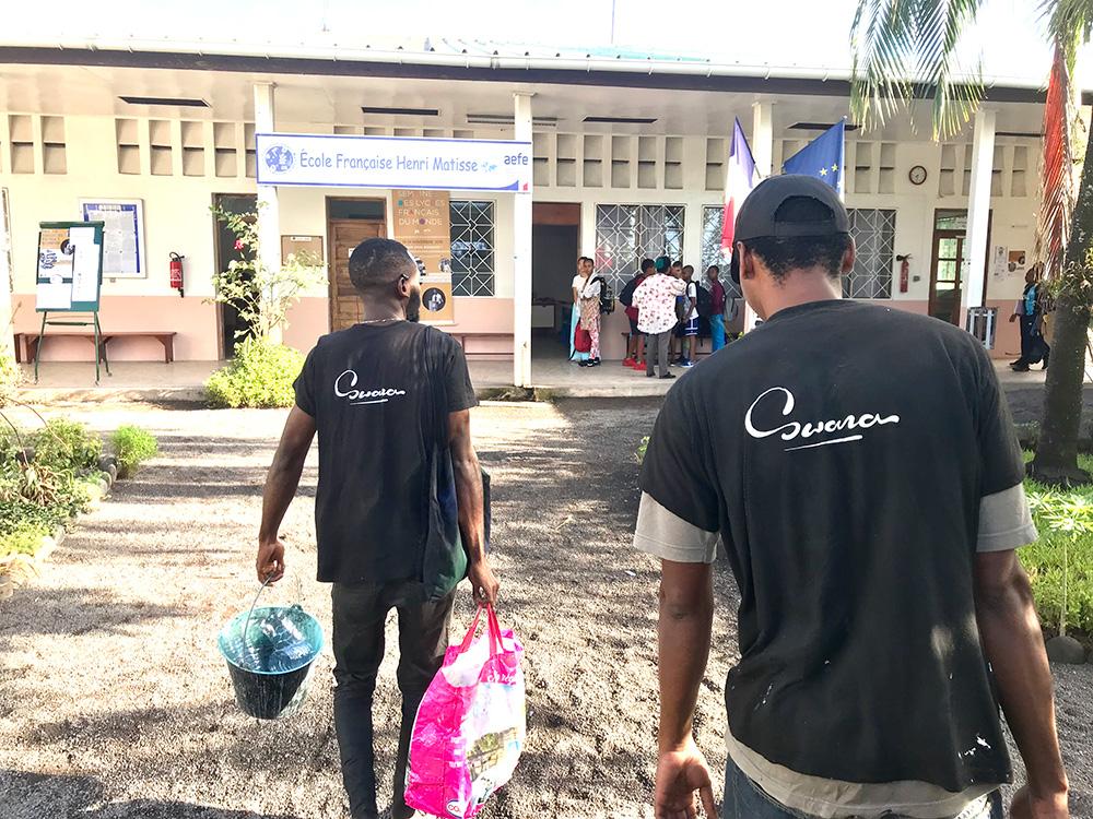 Swana, atelier, graffiti, pédagogie, culturel, éducatif, école, Comores, Moroni